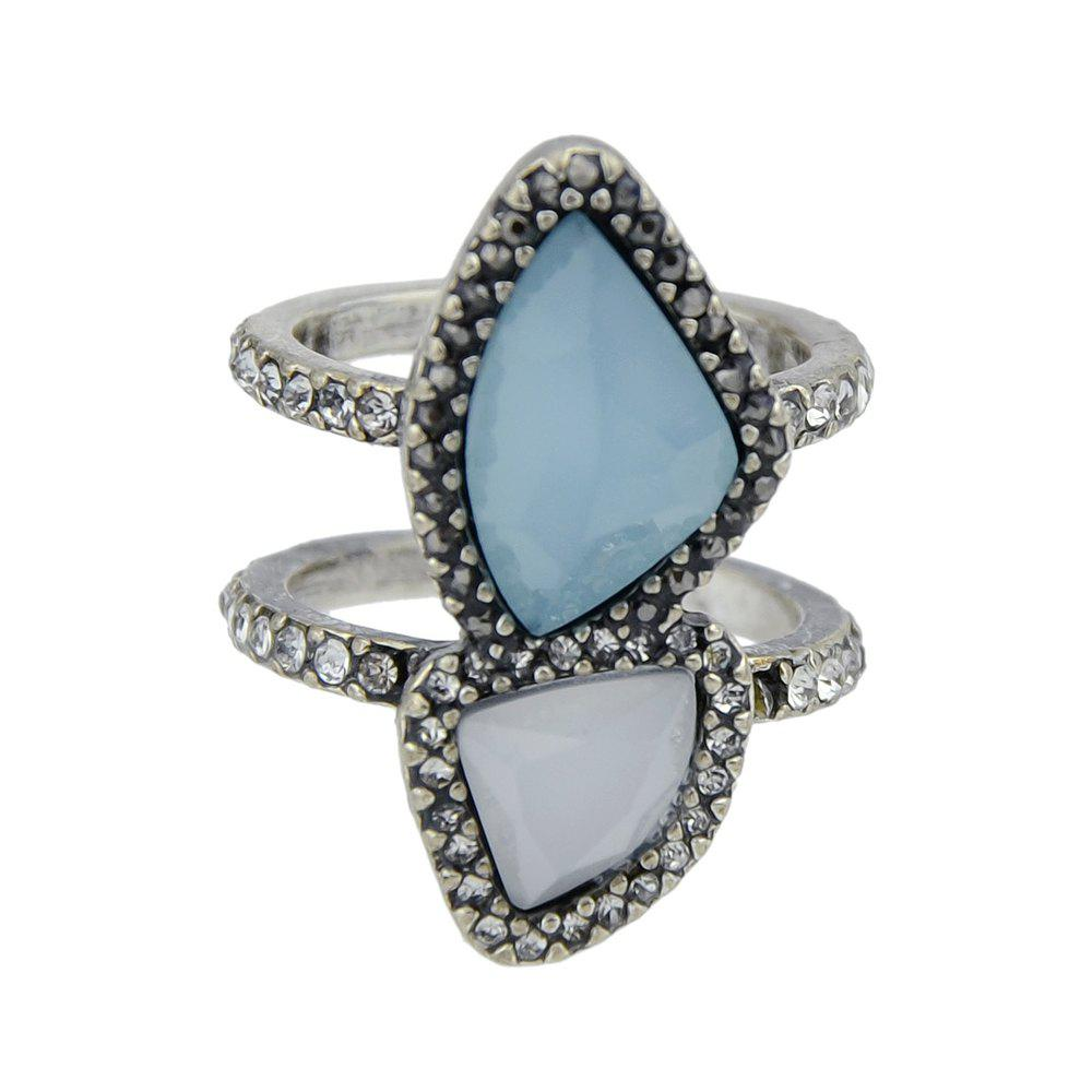 Outfit Silver Color Geometric Circle Ring