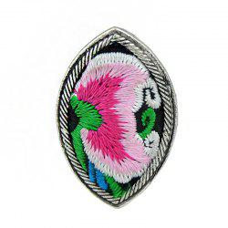 Handmade Flower Pattern Colorful Embroidery Geometric Rings -
