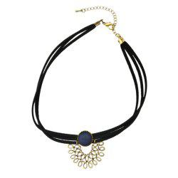 Black Suede Fabric Choker Necklace -