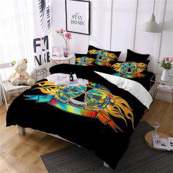 AS111-B Flame Skeleton Fear Personality Decorative Pattern Bedding Set -