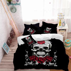 AS113-B Ornament Skeleton Personality Decorative Pattern Bedding Set -