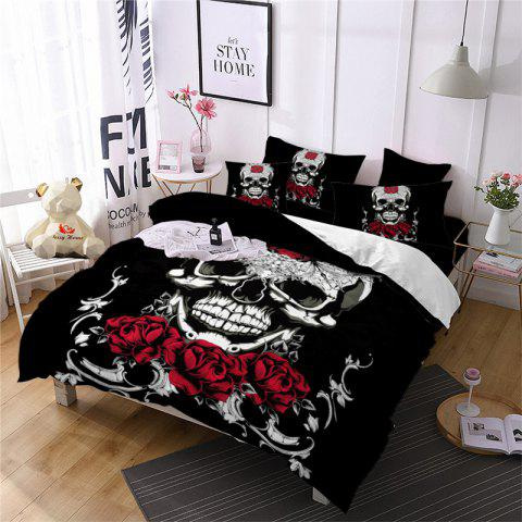 Discount AS113-B Ornament Skeleton Personality Decorative Pattern Bedding Set