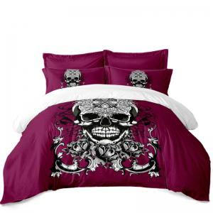 AS113-C Ornament Skeleton Personality Decorative Pattern Bedding Set -