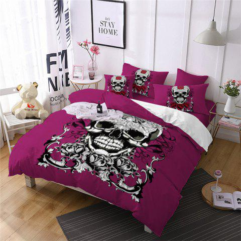 Latest AS113-C Ornament Skeleton Personality Decorative Pattern Bedding Set