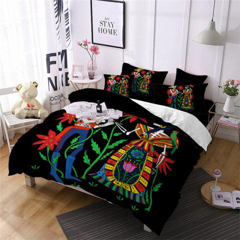 Discount AS114-B Indian Style Men's and Women's Skeleton Pattern Personality Bedding Set