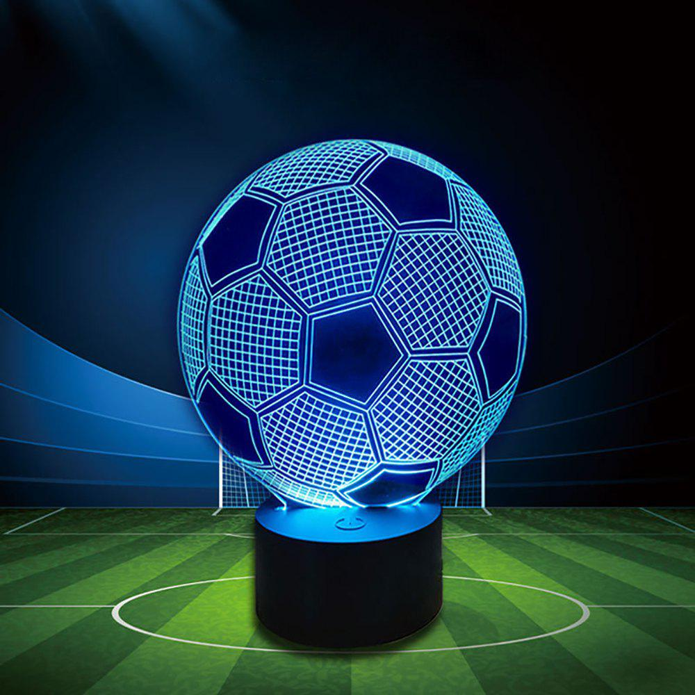 BRELONG Football 3D Night Light Couleur Smart Home LED Lampe décorative de l'atmosphère