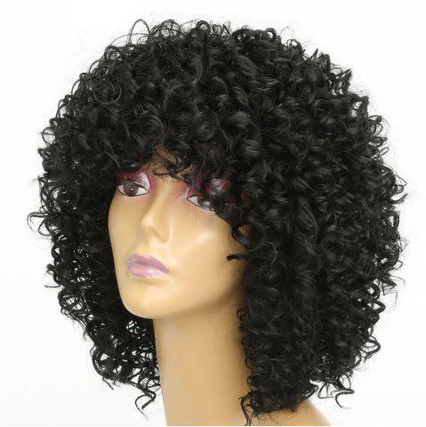 Outfits Women Silver Gray Afro Curly Style Short Hair Synthetic Wig for Party 5 Colors