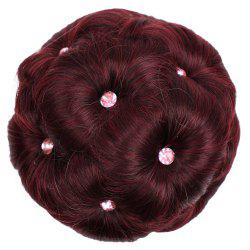 TODO 12cm Flowers Bud Insert Comb Band Clip In Bun Updo Cover Hair Extensions -