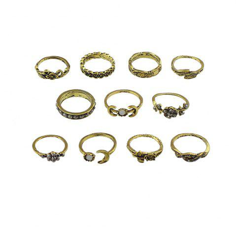 New 11 Pcs Flower Leaf Knuckle Rings For Women
