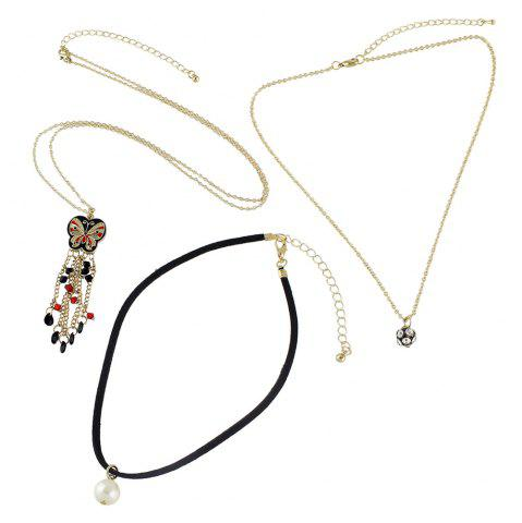 Outfit Butterfly Shape Long Pendant Necklaces