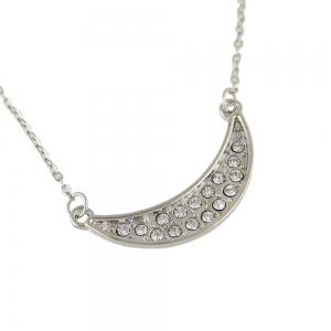 Multilayes Rhinestone Long Chain Necklace -