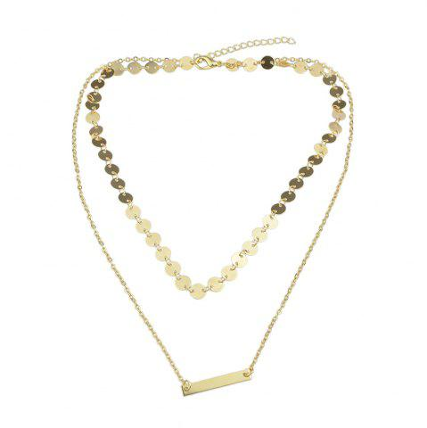 Latest Double-layer Chain Sequins Necklace