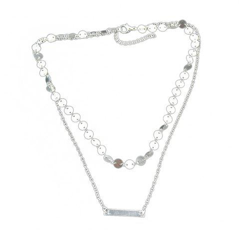 New Double-layer Chain Sequins Necklace