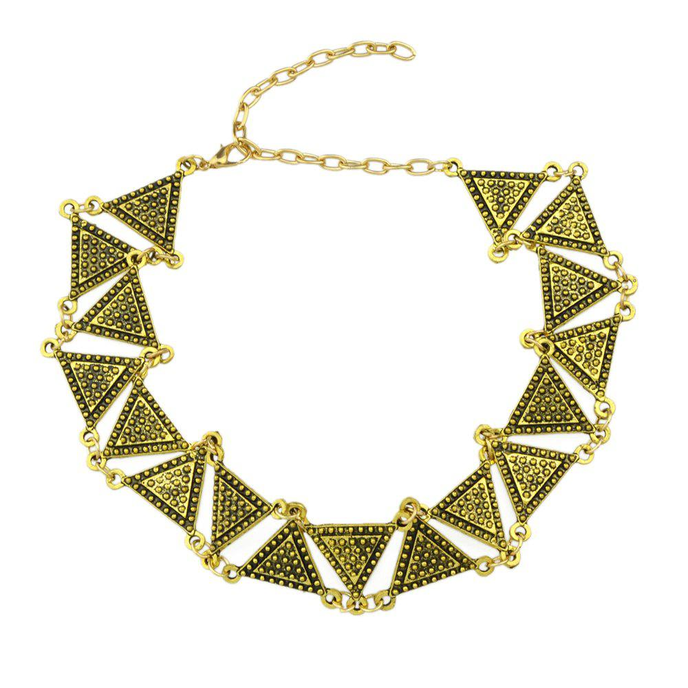 Trendy Plated Triangle Geometric Choker Necklace