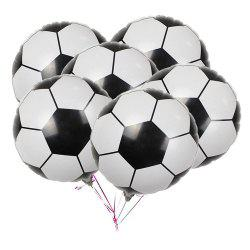 10PCS Aluminum Foil Football Balloons for Birthday Party Decorations -