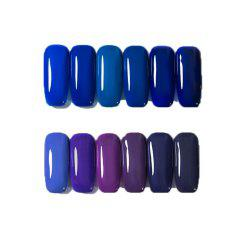 12 Color Nail Polish Gel Varnish Lacquer Design Set Manicure Kit -