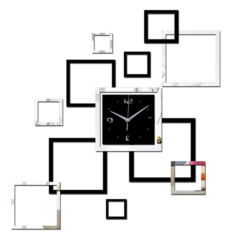 Современный дизайн 3D DIY Mirror Wall Clock Parlor Background Sticker Home Decor