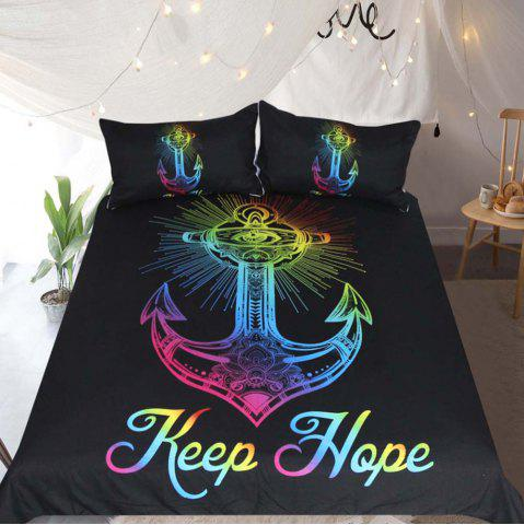 Outfit Colorful Anchor Printed  Duvet Cover Set 3pcs