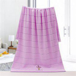 Cotton 32 Shares of  Embroidery Lavender Fragrance Bath Towel -