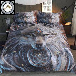 New 3D Printed Wolf Warrior Bedclothes 4PCS Burst -