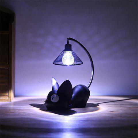 Chic Mini Cute Black Cat Night Light Table Lamp Home
