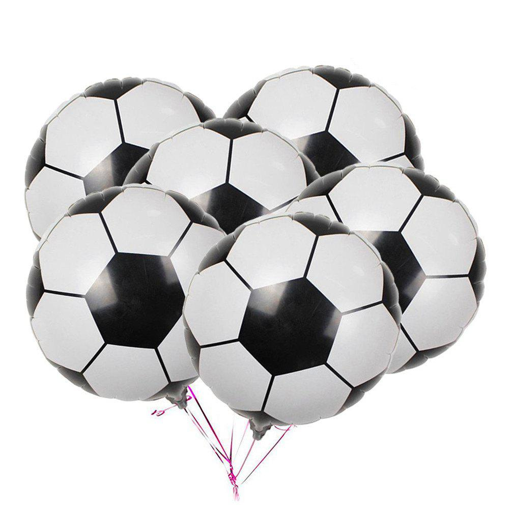 Latest 10PCS Aluminum Foil Soccer Balloons for Birthday Party  Decorations