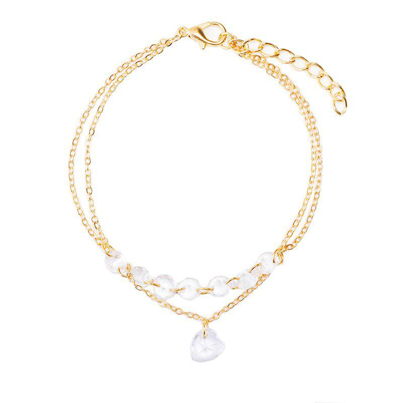 Fashion Heart Shaped Gemstone Zircon Hand Chain in Summer Natural Style Hand Decoration