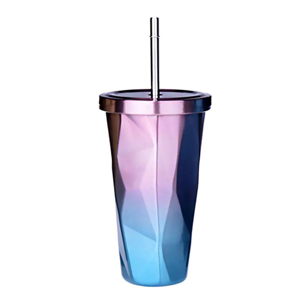 Hot Double Stainless Steel Irregular Straw Cup 1pcs