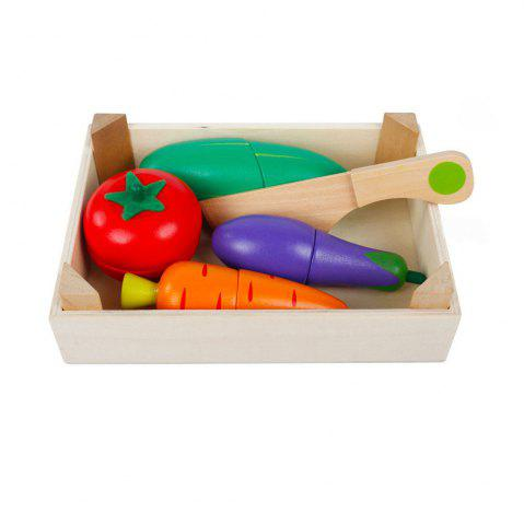 Kid Pretend Toy Early Education Wooden Vegetable Fruit Toy Set