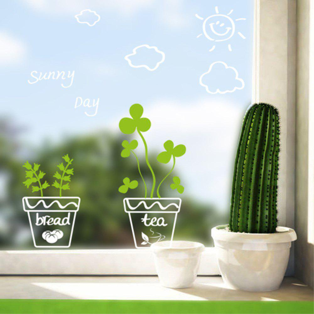 Trendy Creative Decorative Cartoons 3D Plants and Pots Wall Sticker