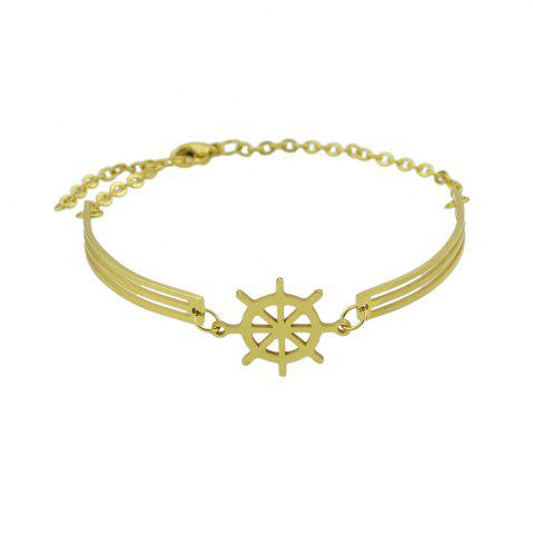link ab light fancy tone hollow bracelet gold two