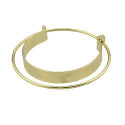 Big Open Cuff Statement Bracelet -