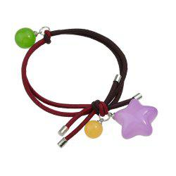 Candy Color Beads Star Bead Charm Headbands -