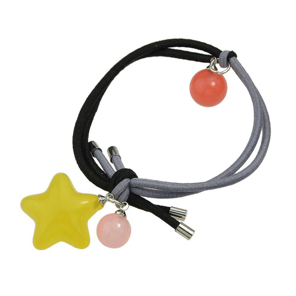 Latest Candy Color Beads Star Bead Charm Headbands