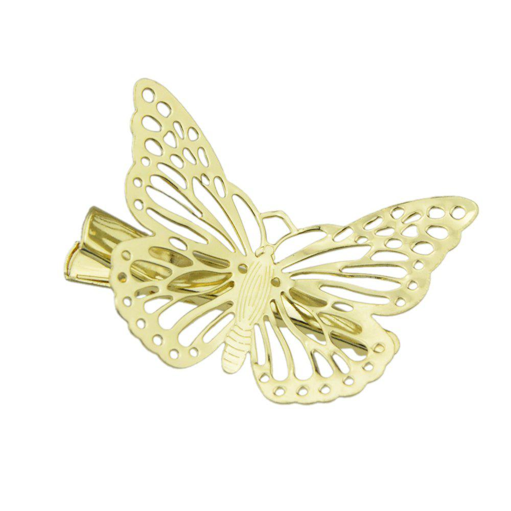 Discount Gold Color Butterfly Clip Hairpins