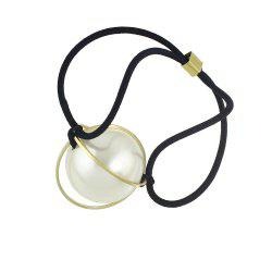 Elastic Rope Circular Metal Hairband -