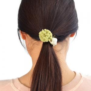 Elastic Rope with Flannelette Flower Hairbands -