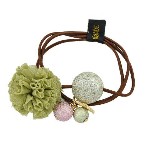 Cheap Elastic Rope with Flannelette Flower Hairbands