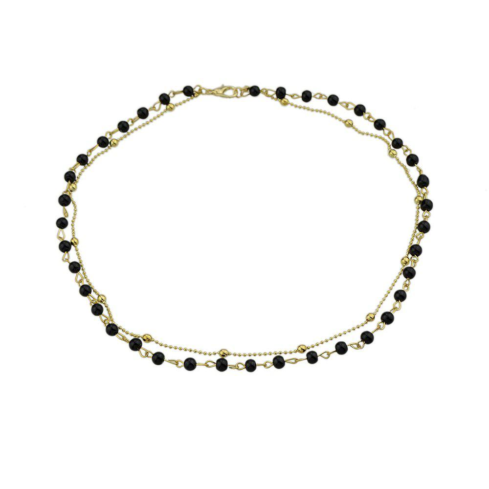 Chic Minimalism Multi Layers Metal Chain Necklace