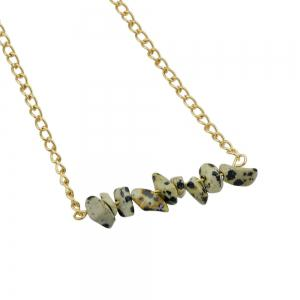 Colorful Natural Stone Geometric Choker Necklace -