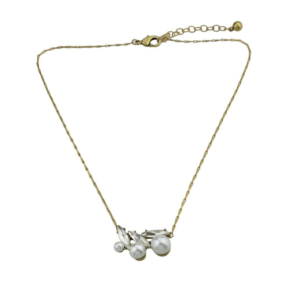 New Silver Color with Crystal Pendant Necklace