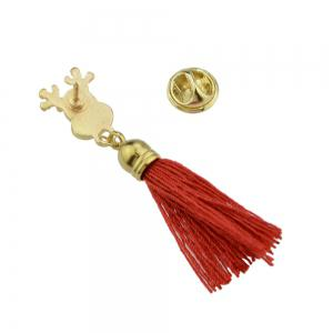 Enamel with Tassel Reindeer Brooches for Women -
