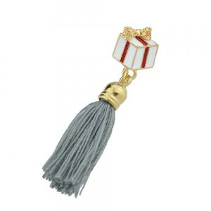 Enamel with Tassel Gift Box Brooches for Women -