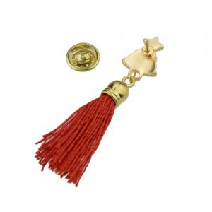 Enamel with Tassel Small Bell Brooches for Women -