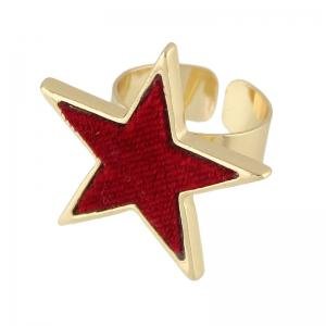 Flannelette Five Stars Open Ring -