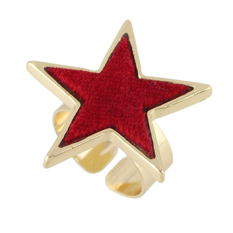 Affordable Flannelette Five Stars Open Ring
