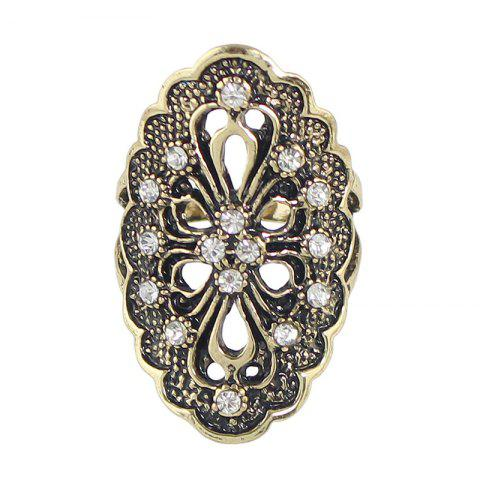New Rhinestone Hollow Out Flower Finger Rings