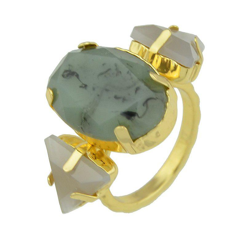 Chic Stone Triangle Elliptical Geometric Finger Ring