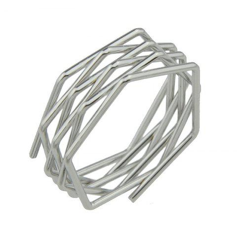 Discount Punk Rock Style Circle Geometric Finger Ring