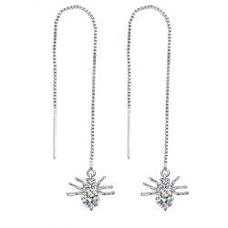 Popular Fashion Long Style Small Animal Spider Pendant Earrings -